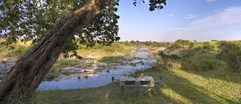 Rekero Mara Camp view on Talek river, Kenya