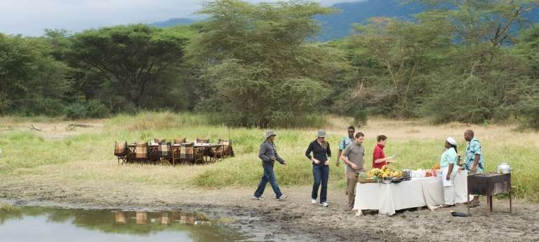 Lake Manyara Tree Lodge Bush Dining in Lake Manyara, Tanzania