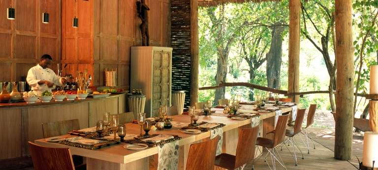 Dining Area at Lake Manyara Tree Lodge in Lake Manyara