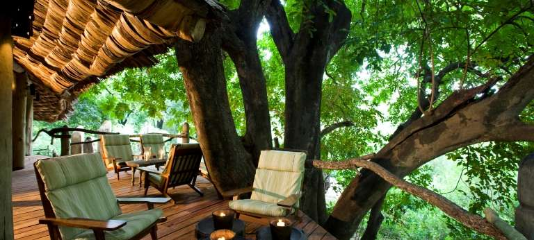Lake Manyara Tree Lodge Guest Area in Tanzania