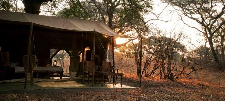Camping Area at Chada Camp in Katavi, Tanzania