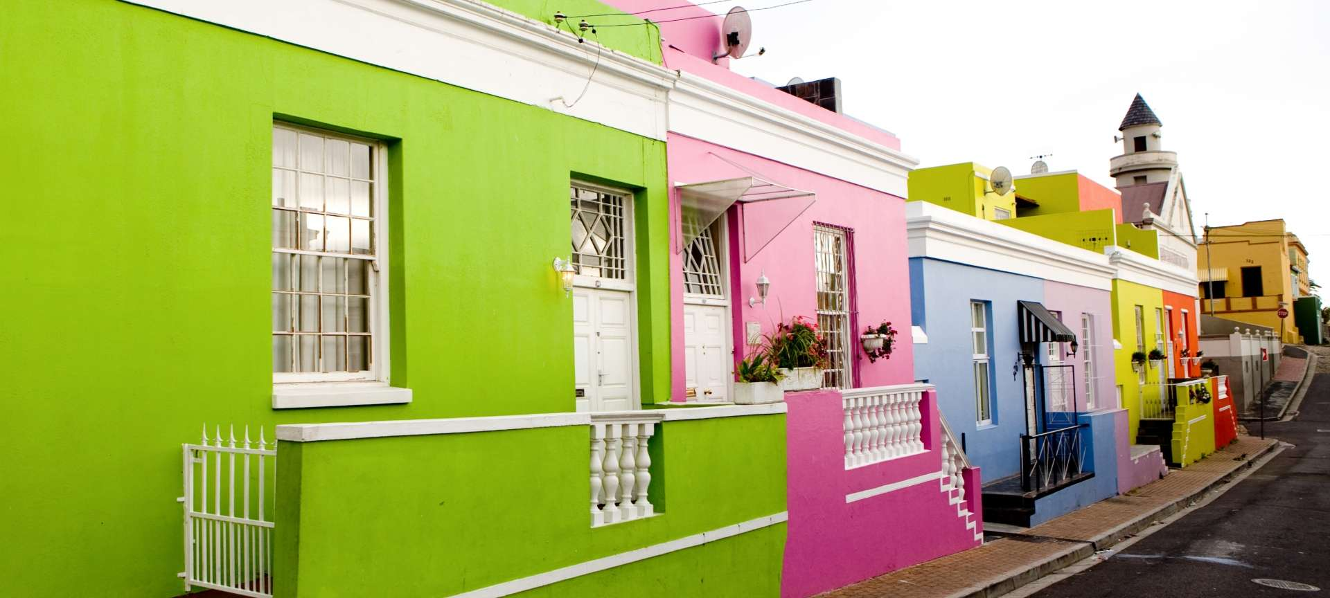 The cobbled streets and colourful houses of Bo-Kaap are a popular photographic destination.