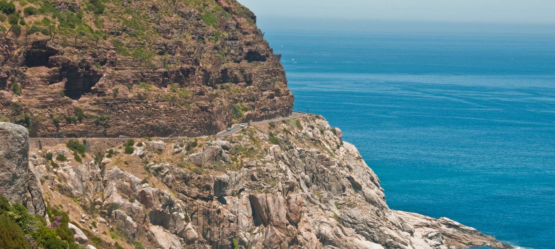 One of the breathtaking vistas from a stopover on Chapmans Peak Drive.