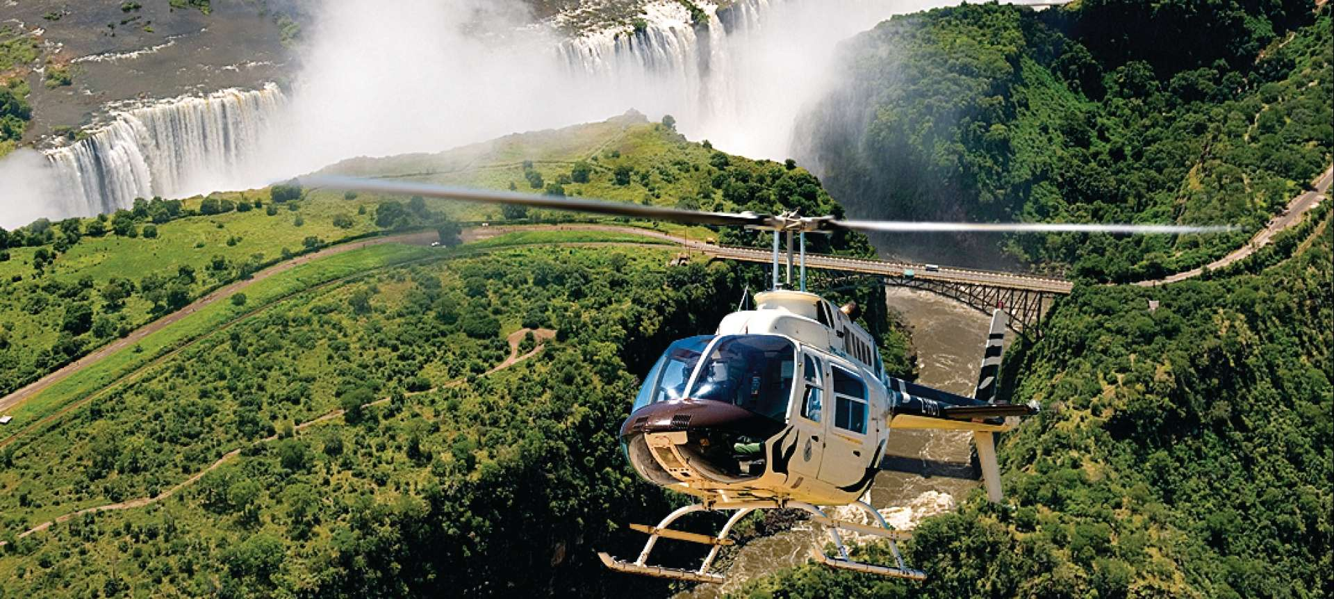 An aerial view of Vic Falls is undoubtedly a pinnacle experience