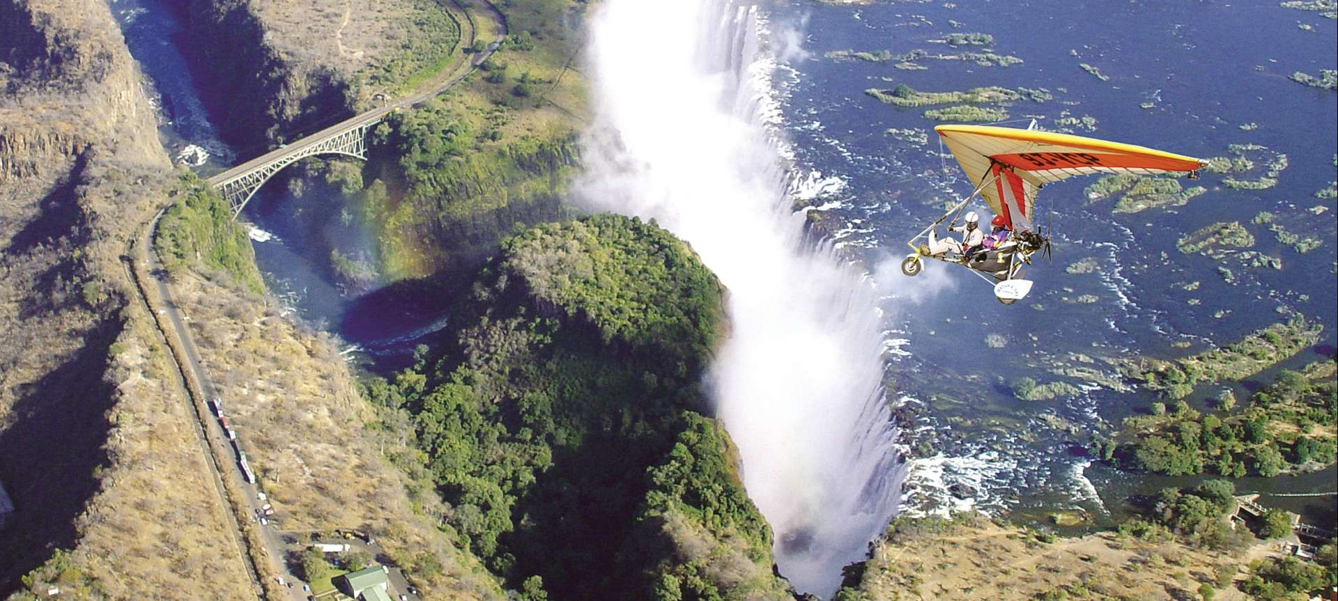 Imagine taking a microlight over the falls to get a bird's eye view?