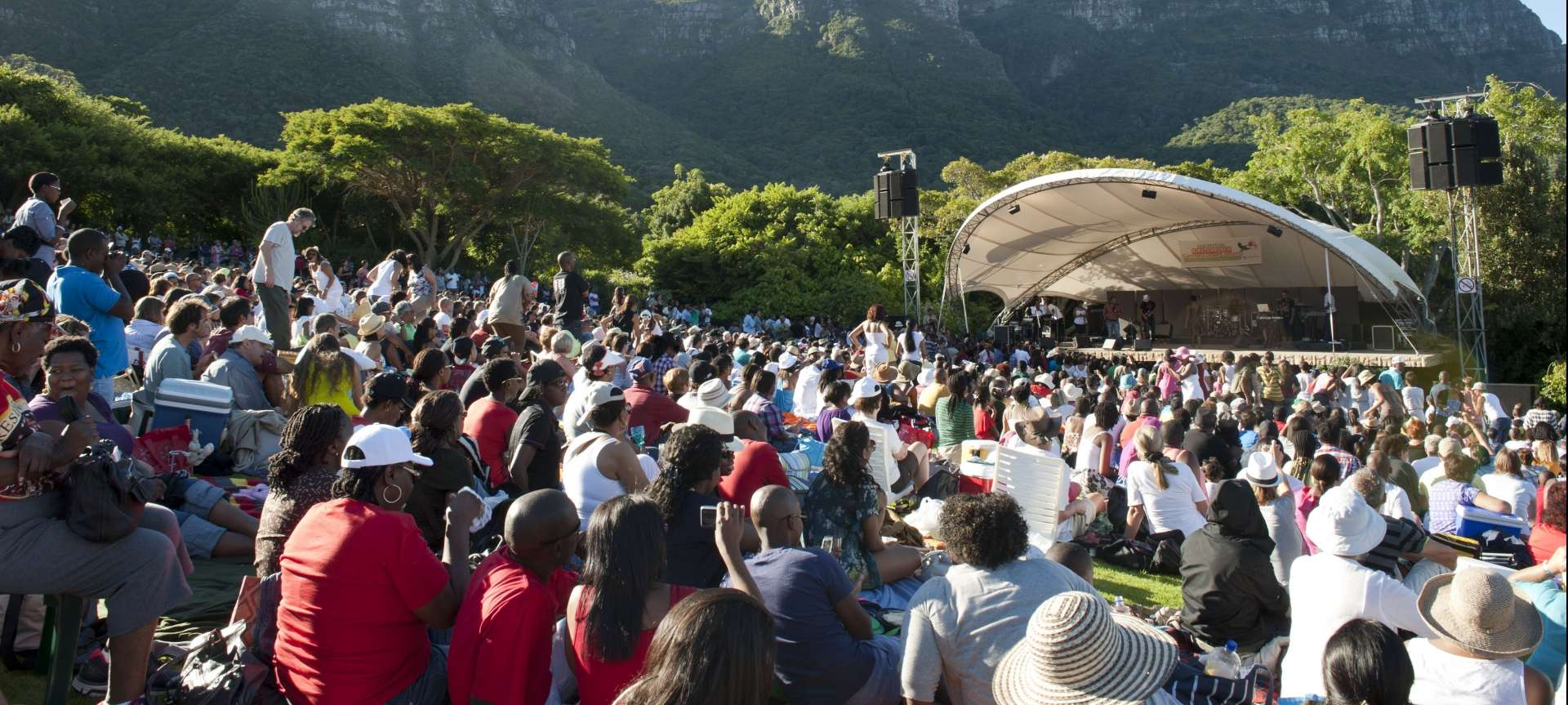 Kirstembosch Botanical Gardens hold concerts each summer featuring local and international artists