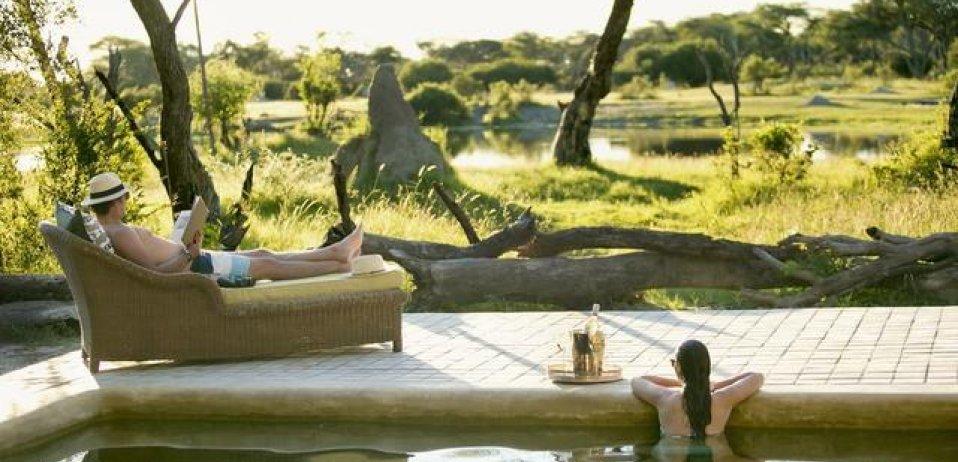 The hide safari camp zimbabwe pool