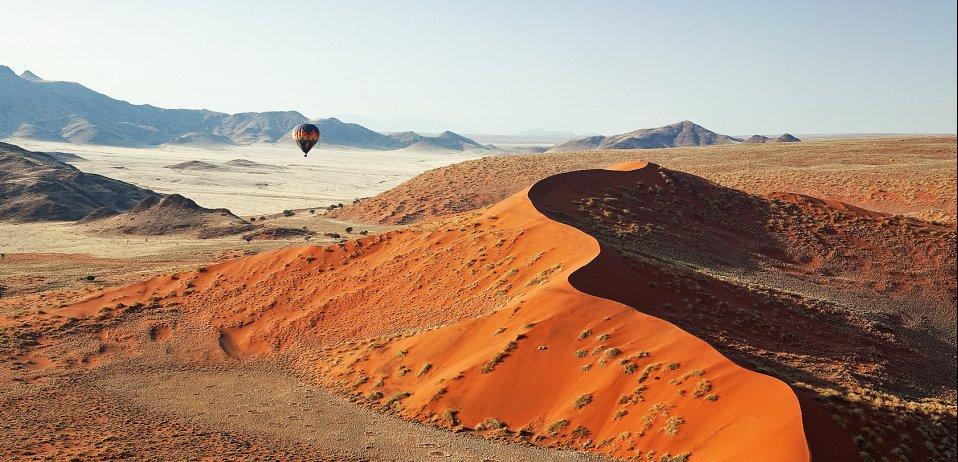 hot air balloon trips namibia