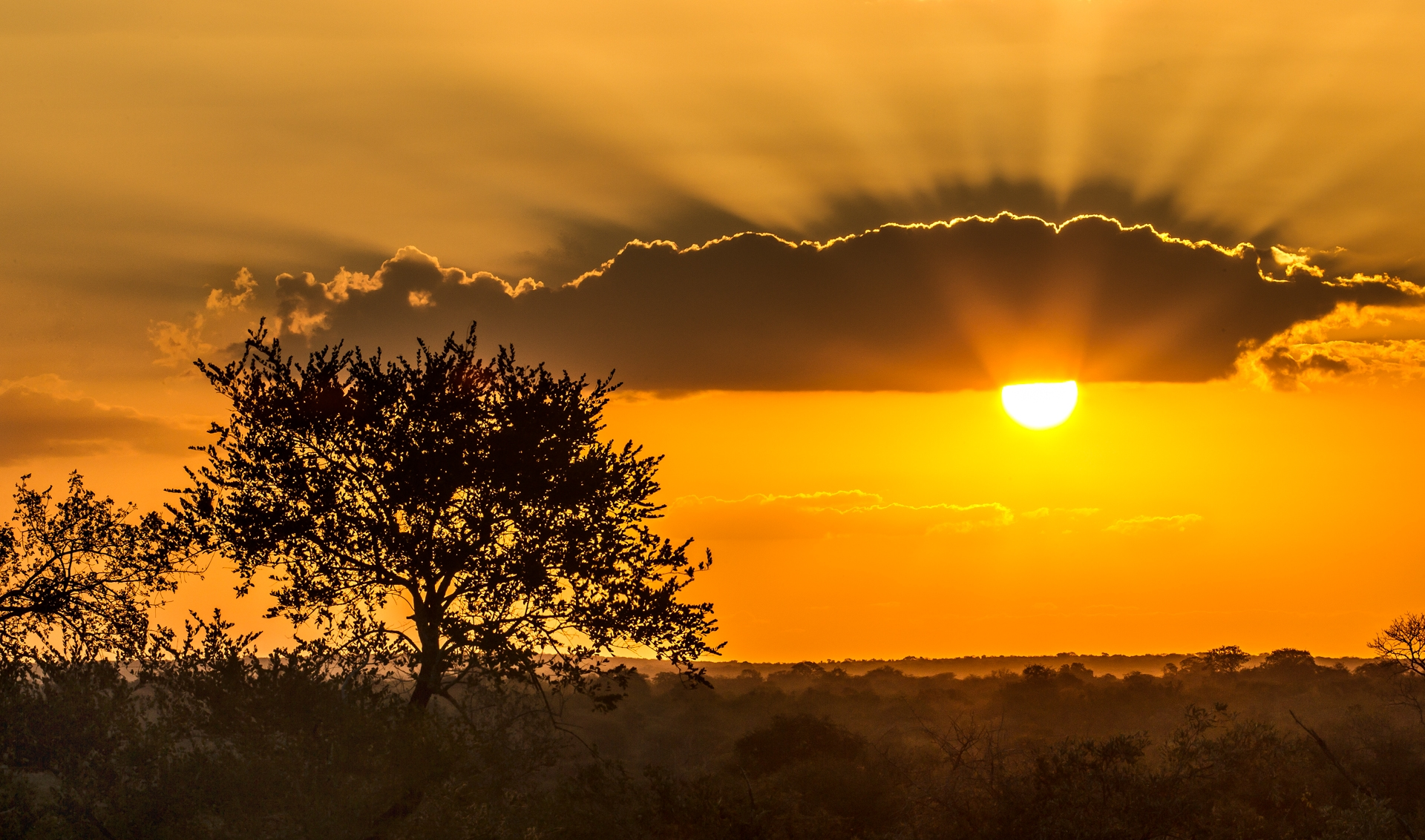 A South African sunset in May