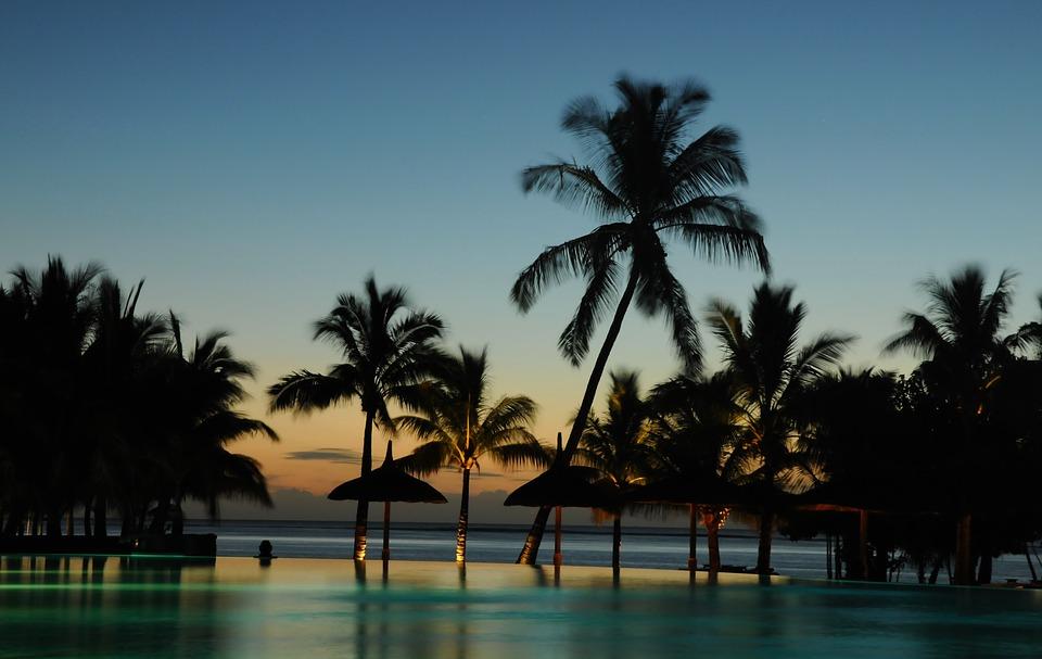Night time in Mauritius