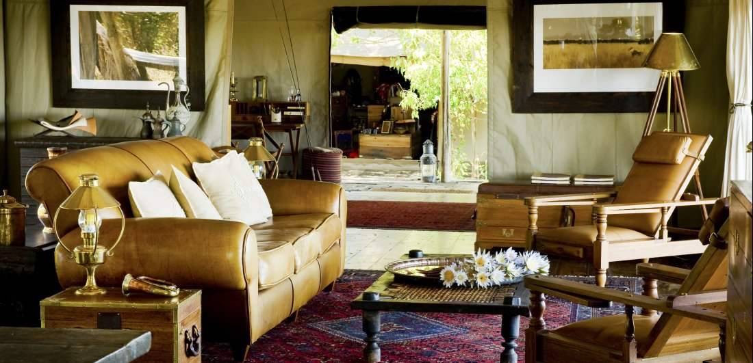 zarafa luxury botswana safari main lounge