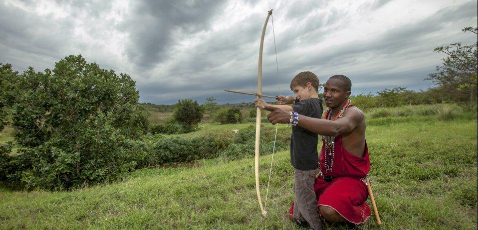 Olonana camp masai mara kenya safari kids activities