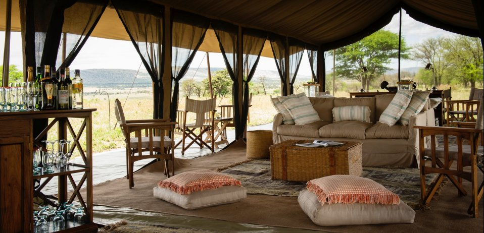 Nnomad serengeti safari camp tanzania wildebeest migration main tent