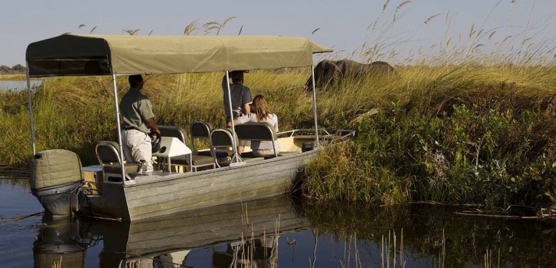 camp xakanaxa okavango delta botswana safari boating