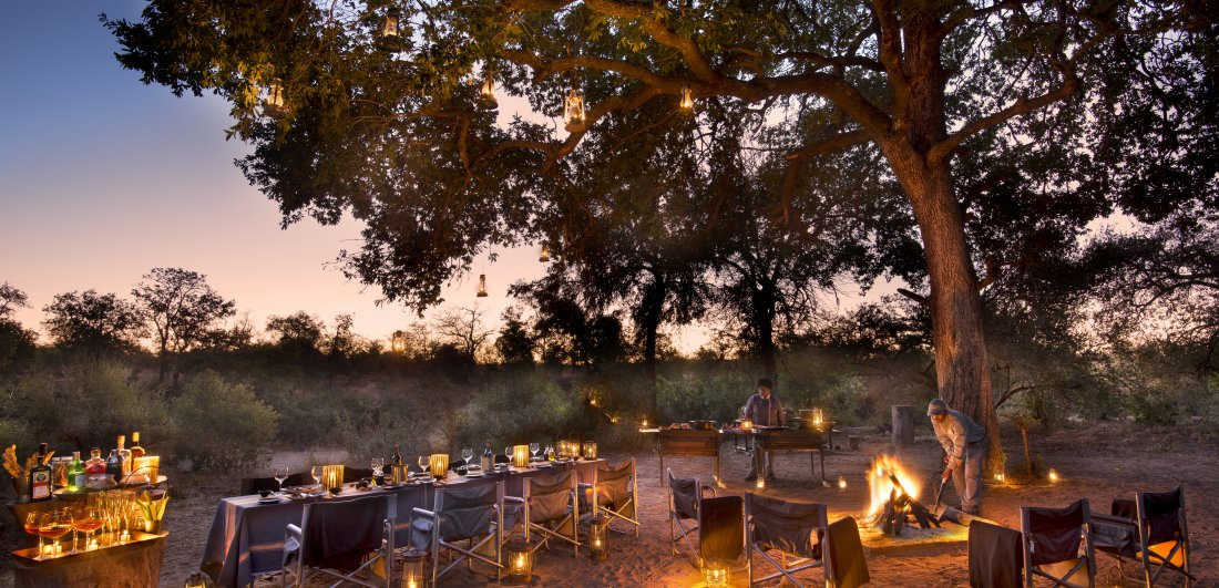 Rockfig safari lodge timbavati south africa bush dining