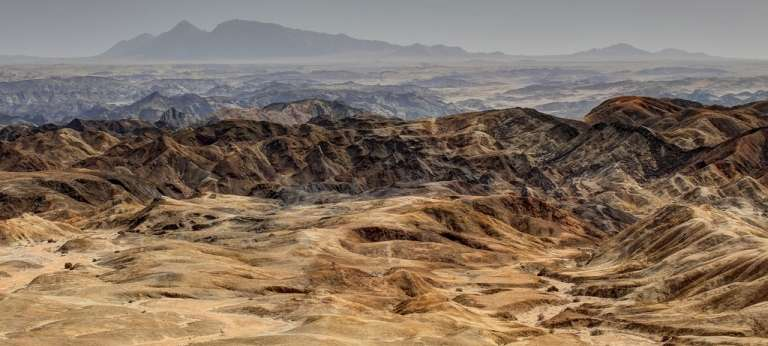 The moon landscape of Namibia