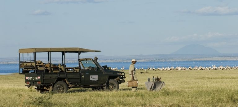 Stopping for drinks | Affordable Green Season Safari in Tanzania (8 days)