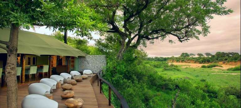 Exterior view of Ngala Tented Camp | Delightful Cape Town and Kruger Luxury Safari (12 days)