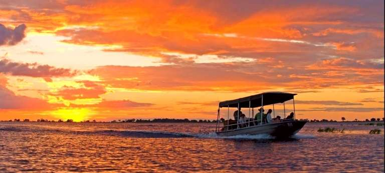 Boating on the Chobe River