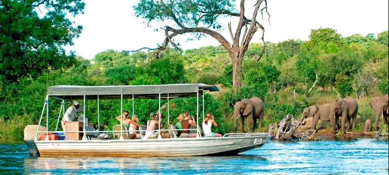 Boat trips along the river are a favourite past time in Botswana
