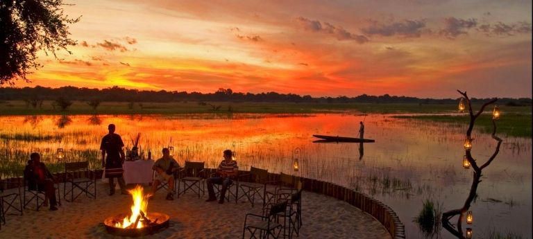 Camp fire | Victoria Falls, Okavango Delta and Chobe Safari (7 days)
