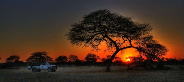 An African sunset is hard to beat