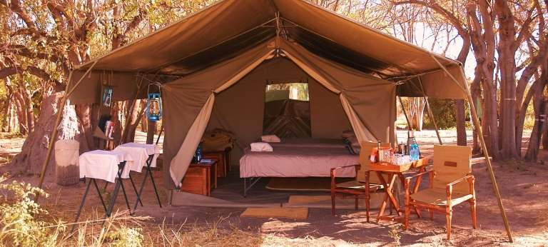 | Experience a mobile camping safari in Botswana