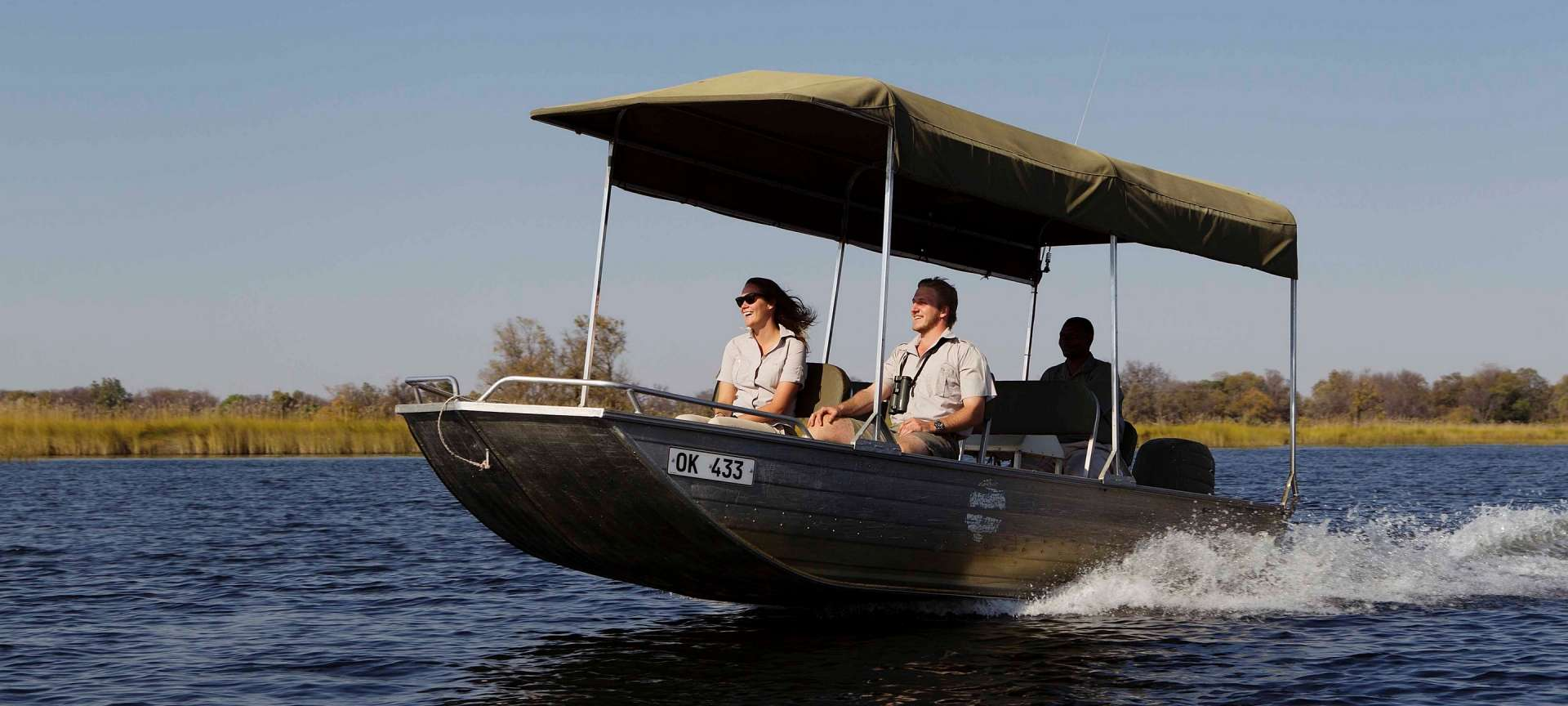Boat safaris allow quick access to a number of wonderful open lagoons