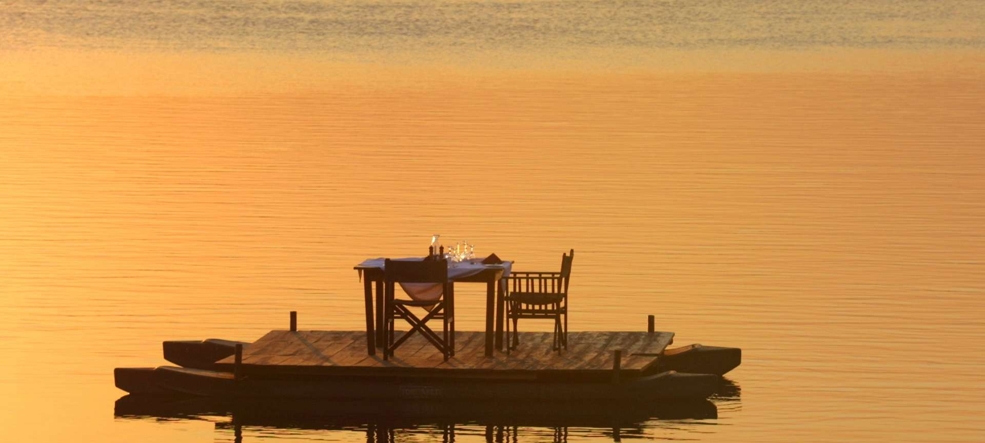 Enjoy a peaceful sunset dinner for one
