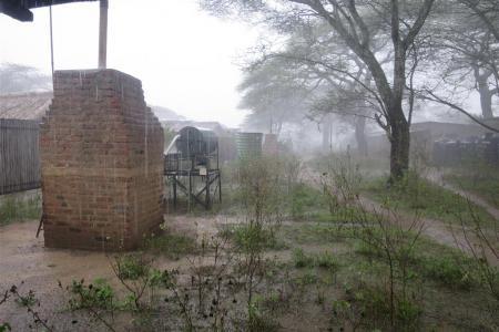 Heavy rain at the Ndutu Safari Lodge